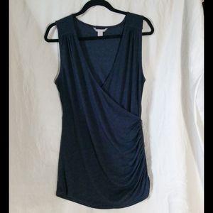 Banana Republic sleavless wrap grey t-shirt size L